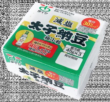 キッコーマン味わいリッチ(R)減塩しょうゆ使用たれ付き 減塩太子納豆45g×3