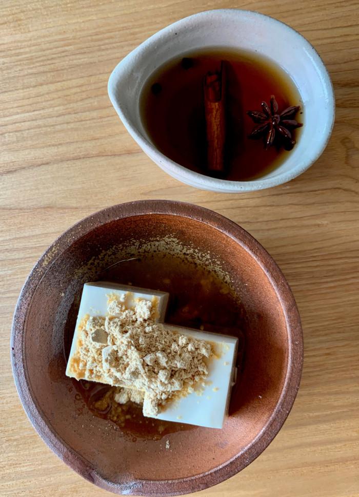 きなこ黒みつ豆腐